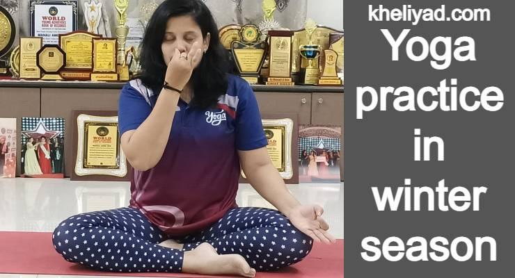 Yoga practise in winter season